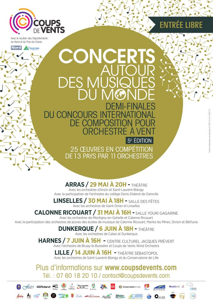 Coups de Vents - Demi-finales du Concours International de Composition pour Orchestre à Vent 2015